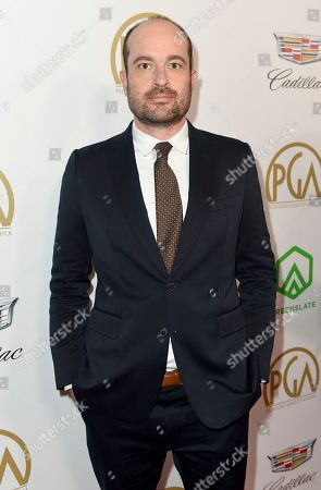 Patrick Somerville arrives at the 30th Producers Guild Awards presented by Cadillac at the Beverly Hilton, in Beverly Hills, Calif