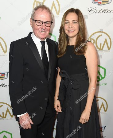Bertram van Munster, Elise Doganieri. Bertram van Munster, left, and Elise Doganieri arrive at the 30th Producers Guild Awards presented by Cadillac at the Beverly Hilton, in Beverly Hills, Calif