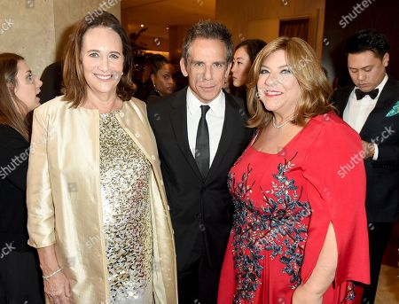 Lucy Fisher, Ben Stiller, Gail Berman. Lucy Fisher, from left, Ben Stiller, and Gail Berman arrive at the 30th Producers Guild Awards presented by Cadillac at the Beverly Hilton, in Beverly Hills, Calif