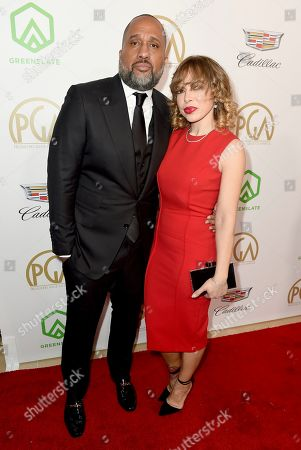 Kenya Barris, Rainbow Barris. Kenya Barris, left, and Rainbow Barris arrive at the 30th Producers Guild Awards presented by Cadillac at the Beverly Hilton, in Beverly Hills, Calif
