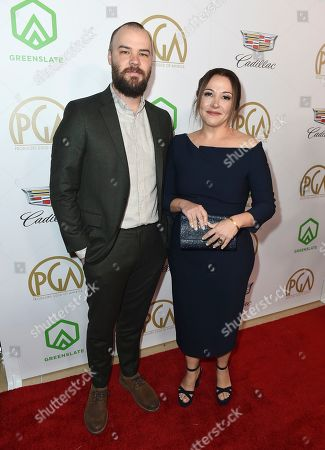 Chapman Way, Juliana Lembi. Chapman Way, left, and Juliana Lembi arrive at the 30th Producers Guild Awards presented by Cadillac at the Beverly Hilton, in Beverly Hills, Calif