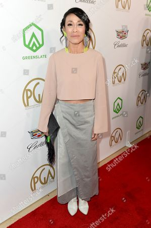 Tan Kheng Hua arrives at the 30th Producers Guild Awards presented by Cadillac at the Beverly Hilton, in Beverly Hills, Calif
