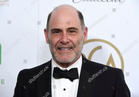 Matthew Weiner arrives at the Producers Guild Awards, at the Beverly Hilton Hotel in Beverly Hills, Calif