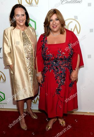 Lucy Fisher, Gail Berman. PGA Presidents Lucy Fisher, left, and Gail Berman arrive at the Producers Guild Awards, at the Beverly Hilton Hotel in Beverly Hills, Calif