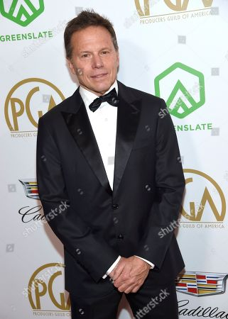 Bill Gerber arrives at the Producers Guild Awards, at the Beverly Hilton Hotel in Beverly Hills, Calif