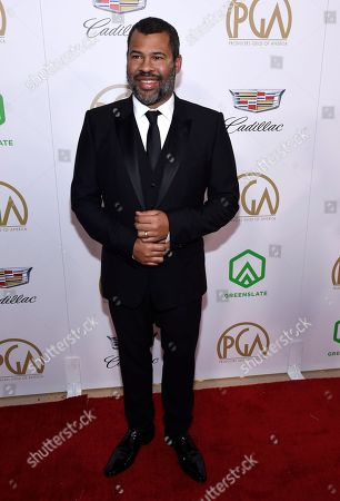 Jordan Peele arrives at the Producers Guild Awards, at the Beverly Hilton Hotel in Beverly Hills, Calif