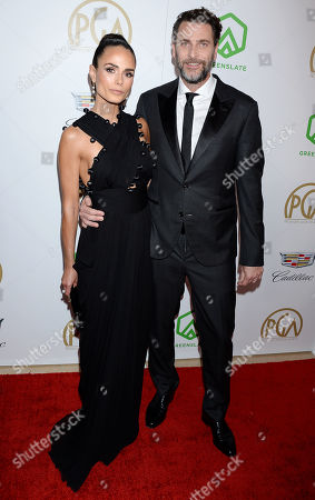 Jordana Brewster and Andrew Form