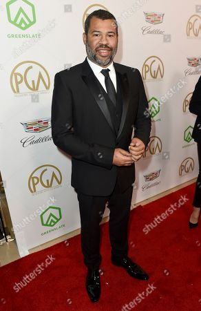 Jordan Peele arrives at the 30th Producers Guild Awards presented by Cadillac at the Beverly Hilton, in Beverly Hills, Calif