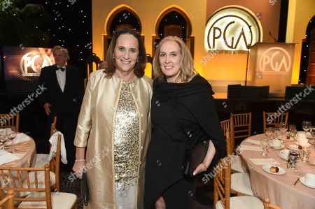 Lucy Fisher, Susan Sprung. Lucy Fisher, left, and Susan Sprung attend the 30th Producers Guild Awards presented by Cadillac at the Beverly Hilton, in Beverly Hills, Calif
