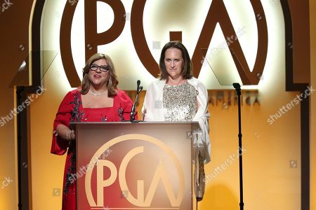 Gail Berman, Lucy Fisher. Gail Berman, left, and Lucy Fisher attend the 30th Producers Guild Awards presented by Cadillac at the Beverly Hilton, in Beverly Hills, Calif