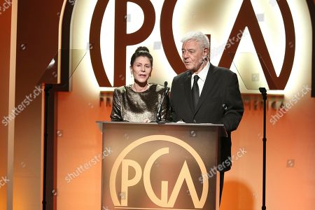 Lauren Shuler Donner, Richard Donner. Lauren Shuler Donner, left, and Richard Donner present at the 30th Producers Guild Awards presented by Cadillac at the Beverly Hilton, in Beverly Hills, Calif