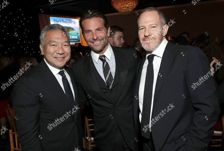 Kevin Tsujihara, Bradley Cooper, Toby Emmerich. Kevin Tsujihara, from left, Bradley Cooper and Toby Emmerich attend the 30th Producers Guild Awards presented by Cadillac at the Beverly Hilton, in Beverly Hills, Calif