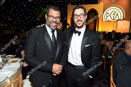 Jordan Peele, Raymond Mansfield. Jordan Peele, left, and Raymond Mansfield attend the 30th Producers Guild Awards presented by Cadillac at the Beverly Hilton, in Beverly Hills, Calif