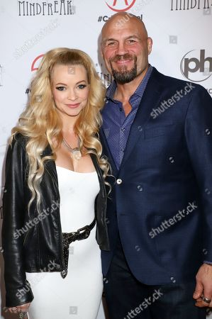 Stock Image of Mindy Robinson, Randy Couture