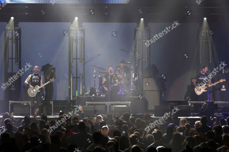Stock Photo of Zach Blair. Rise Against performs during the 2019 iHeartRadio ALTer Ego concert at The Forum, in Inglewood, Calif