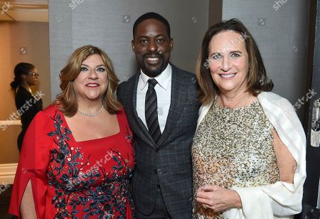 Gail Berman, Sterling K. Brown, Lucy Fisher. Gail Berman, from left, Sterling K. Brown, and Lucy Fisher attend the 30th Producers Guild Awards presented by Cadillac at the Beverly Hilton, in Beverly Hills, Calif