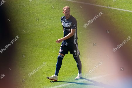 Melbourne Victory forward Ola Toivonen (11) watches on during the Hyundai A-League Round 14 soccer match