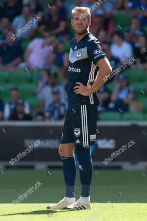 Melbourne Victory forward Ola Toivonen (11) looks on during the Hyundai A-League Round 14 soccer match