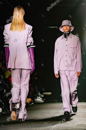 Models present creations from the Fall/ Winter 2019/2020 Ready to Wear collection for Christian Dada fashion house during the Paris Fashion Week, in Paris, France, 20 January 2019. The presentation of the Men's collections runs from 15 to 20 January 2019.