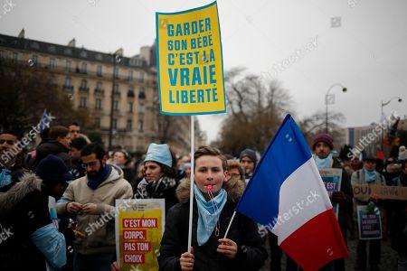 Anti abortion protest, Paris