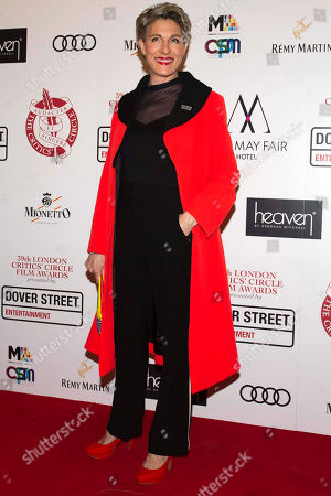 Tamsin Greig arrives for the 39th London Critics Circle Film Awards in Central London, Britain, 20 January 2019. The annual awards ceremony is hosted by the London Critics Circle, an organization featuring over 490 critics of the arts in Britain.