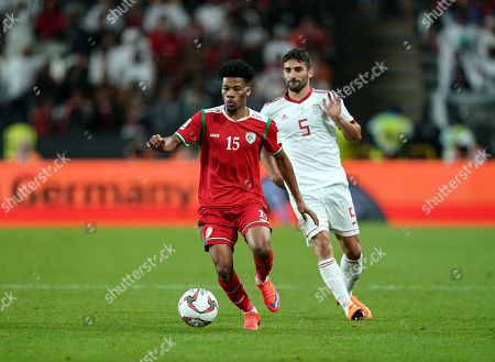 Pejman Montazeri of Iran during Iran v Oman at the Zayed Sports City Stadium in Abu Dhabi, United Arab Emirates, AFC Asian Cup, Asian Football championship