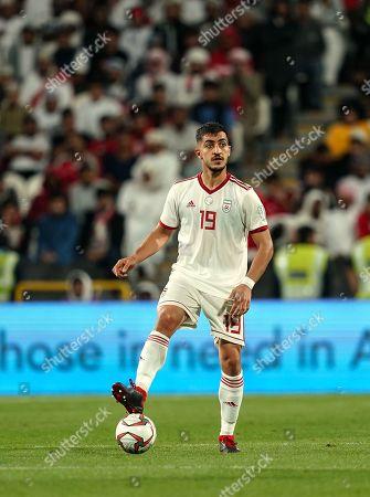 Majid Hosseini of Iran during Iran v Oman at the Zayed Sports City Stadium in Abu Dhabi, United Arab Emirates, AFC Asian Cup, Asian Football championship