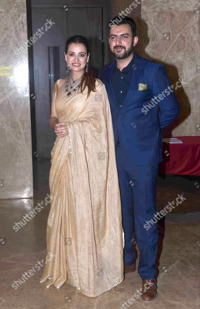 Bollywood actor Dia Mirza with her husband Sahil Sangha