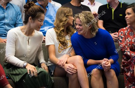Li Na, Daniela Hantuchova and Kim Clijsters during the Legends Press Conference at the 2019 Australian Open Grand Slam tennis tournament