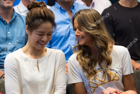 Li Na and Daniela Hantuchova during the Legends Press Conference at the 2019 Australian Open Grand Slam tennis tournament
