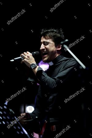 Stock Picture of Jesus Javier Mora, vocalist and leader of La Voz del Desierto performs during a concert for the World Youth Day 2019 in Panama City, Panama, 20 January 2019.