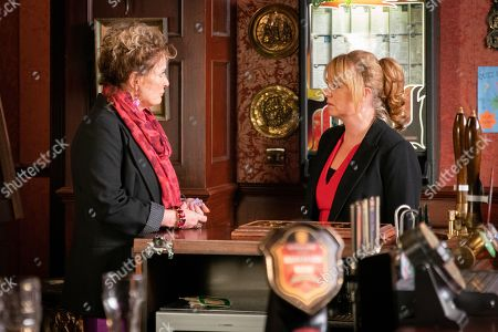 Ep 9685 Monday 4th February 2019 - 2nd Ep Having heard about Jenny Connor's, as played by Sally Ann Matthews, meltdown Liz McDonald, as played by Beverley Callard, lets herself into the pub. How will Jenny react to be faced with her nemesis?