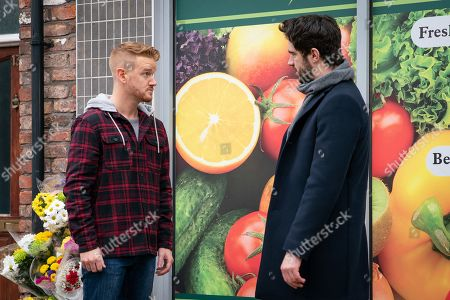 Ep 9682 Friday 1st February 2019 - 1st Ep An angry Seb turns on Gary Windass, as played by Mikey North, for sacking him when he needed the job most and he tells Gary that Sarah Platt spent the evening at Adam Barlow's, as played by Sam Robertson, flat. What will Gary say?