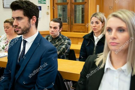 Ep 9681 Wednesday 30 January 2019 - 2nd Ep Seb Franklin, as played by Harry Visinoni, attends the twins' hearing, lying that he's got a full time job and the backing of Eileen. Abi Franklin, as played by Sally Carman, tells the court that while it breaks her heart, she wants the twins to remain with their foster parents as Seb is lying about his situation. How will the court rule? With Adam Barlow, as played by Sam Robertson.