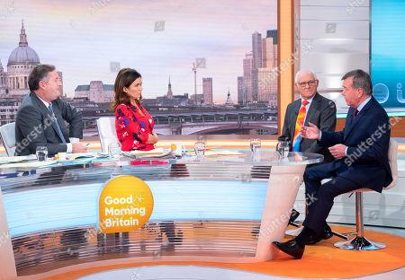 Piers Morgan, Susanna Reid, Dickie Arbiter and Ken Wharfe