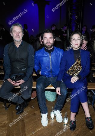 Antoine de Caunes, Guillaume Gouix and Alysson Paradis in the front row