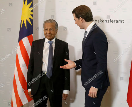 Prime Minister of Malaysia Mahathir Mohamad visit to Austria