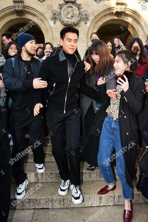 Editorial image of Berluti show, Front Row, Fall Winter 2019, Paris Fashion Week Men's, France - 18 Jan 2019