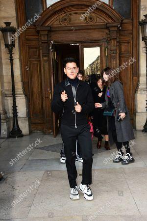 Editorial photo of Berluti show, Front Row, Fall Winter 2019, Paris Fashion Week Men's, France - 18 Jan 2019