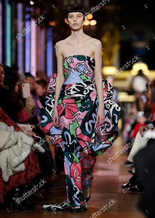 A model presents a creation from the Spring/Summer 2019 Haute Couture collection by French designer Bertrand Guyon for Schiaparelli during the Paris Fashion Week, in Paris, France, 21 January 2019. The presentation of the Haute Couture collections runs from 21 to 24 January.