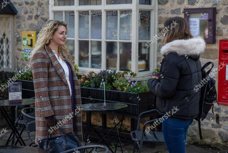Ep 8381 Thursday 31st January 2019 - 1st Ep Maya, as played by Louisa Clein, stirs the pot between Jacob, Liv and Gabby Thomas, as played by Rosie Bentham.
