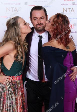 Kellie Bright, Danny Dyer and Luisa Bradshaw-White