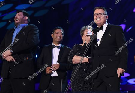 Paul Sinha, Jenny Ryan, Shaun Wallace, Mark Labett, Anne Hegerty and Barney Walsh - Quiz Show - 'The Chase'