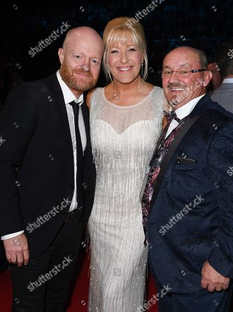 Jake Wood, Brendan O'Carroll and Jennifer Gibney
