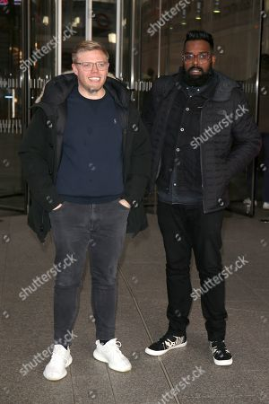 Rob Beckett and Romesh Ranganathan out and about, London