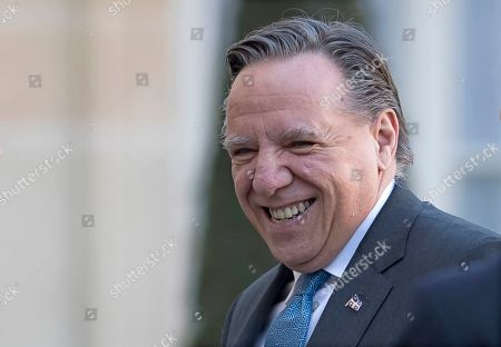 Prime Minister of Quebec Francois Legault  arrives for a meeting at the Elysee Palace in Paris, France, 21 January 2019.