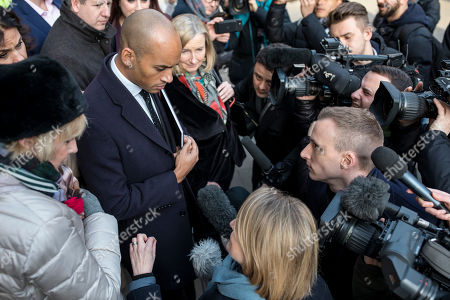 The media speak with a group of MPs including Heidi Alexander, Chuka Umunna, Chris Leslie, Sarah Wollaston, Gavin Shuker, Anna Soubry and Luciana Berger after a meeting in the Cabinet Office.
