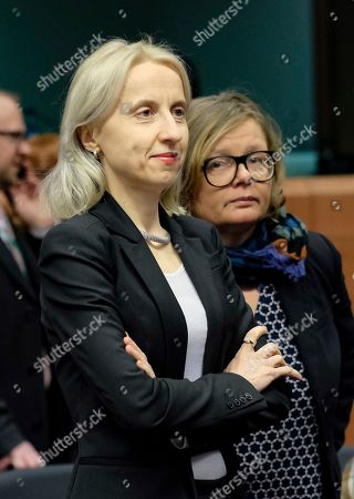 Polish Minister of Finance Teresa Czerwinska during Eurogroup Finance Ministers' meeting in Brussels, Belgium, 21 January 2019.