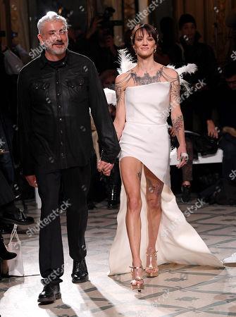 Antonio Grimaldi and Asia Argento on the catwalk