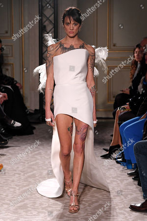 Asia Argento on the catwalk